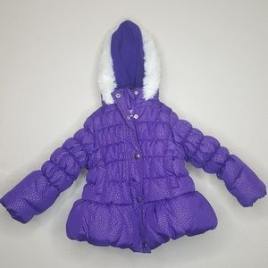 HAWKE & Co Outfitters 18M Jacket Coat Fur Puffer